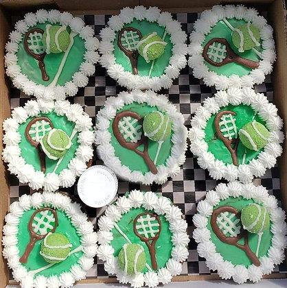 Tennis Theme Cookie Pizzas