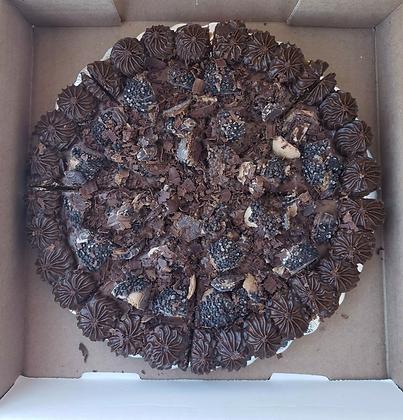 Dark Chocolate Ferraro Rocher Cookie Pizza
