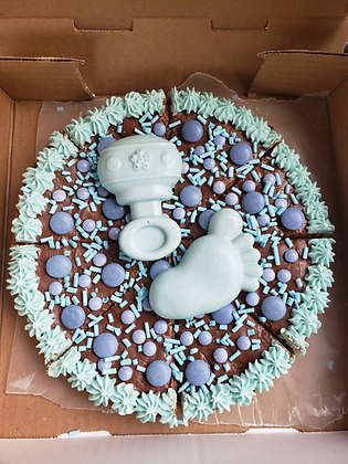 It's A Boy! Baby Shower Cookie Pizza