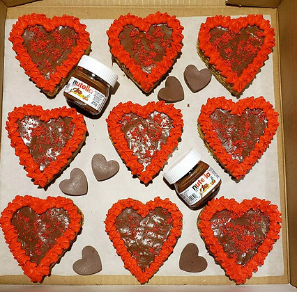 Valentine box of 9 Heart Cookie Pizzas