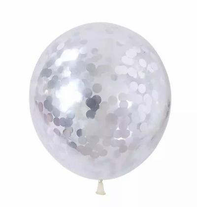 Silver Confetti Latex #56