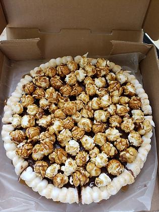 Caramel Popcorn Cookie Pizza