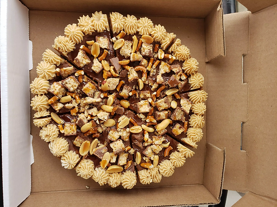 Whatchamacallit Cookie Pizza