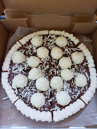 Coconut Ferraro Rocher Cookie Pizza