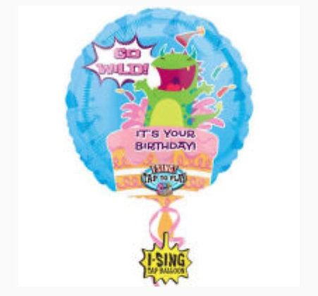 "28"" Go Wild Singing Balloon"