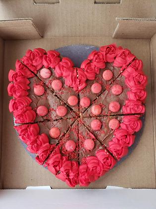 Valentines Heart Cookie Pizza