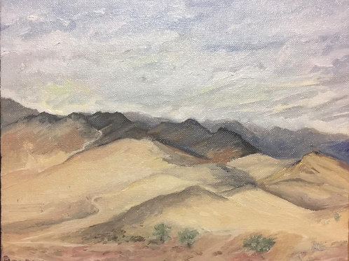 "Dumont Dunes, CA 3 8x10"" original oil painting"