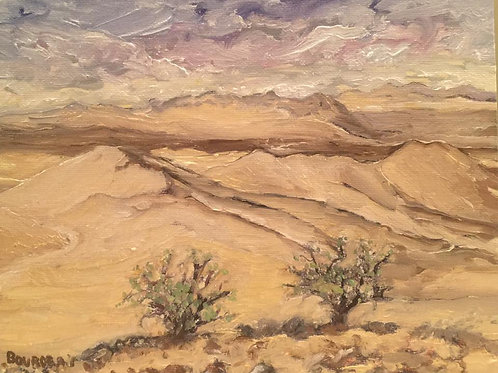 """Dumont Dunes, CA 2 8x10"""" original oil painting"""