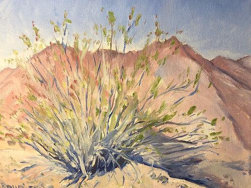 "Sagebrush 1, 8x10"" original oil painting"