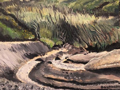 "Black Sands Beach, Shelter Cove, CA 8x10"" original plein air oil painting"