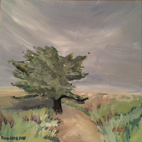 """Shelter Cove, Oil Paint 10x10x1"""" original oil painting on wood"""
