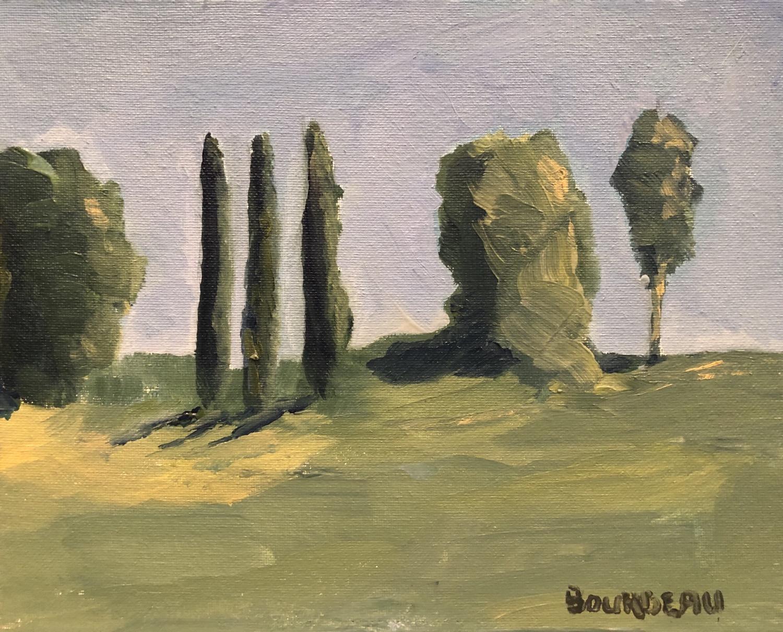 "The Three Cypress 8x10"" original plein air painting"