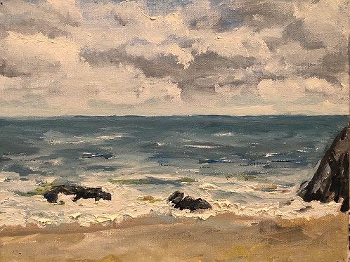 """Cabo San Lucas from Hilton's Beach 8x10"""" original plein air oil painting"""