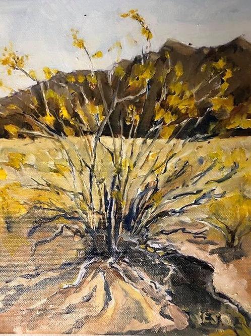 "Eldorado Valley Sagebrush, Winter, Looking West 8x10"" original oil painting"