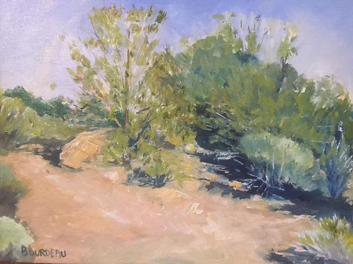 "Sunset Park, Las Vegas, NV 11x14"" original oil painting"