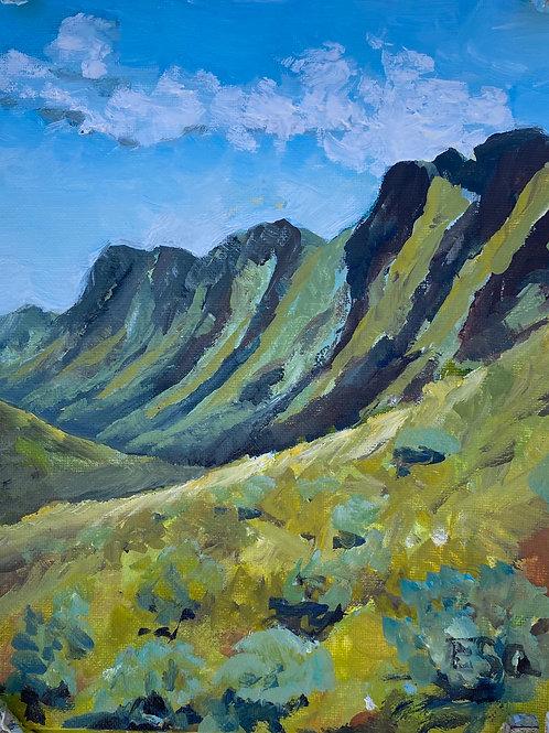 "Behind Amaroc 8x10"" plein air oil painting"
