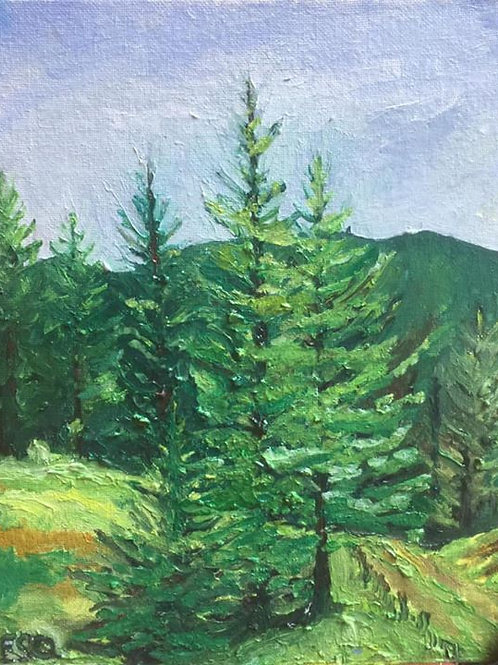 "Ione, WA back road of Alternate Property 8x10"" original oil painting"