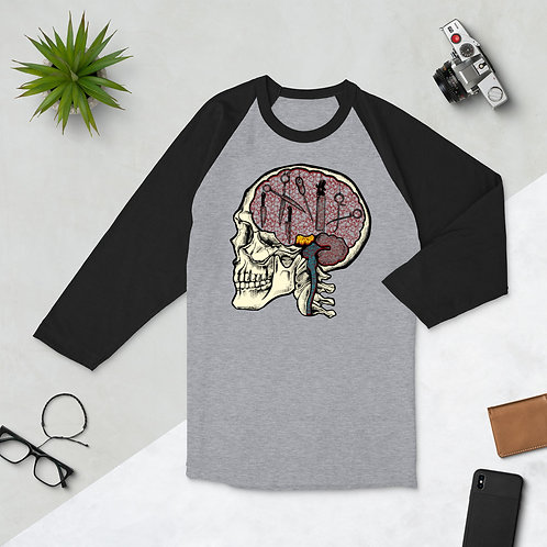 Trauma Brain - 3/4 sleeve raglan shirt
