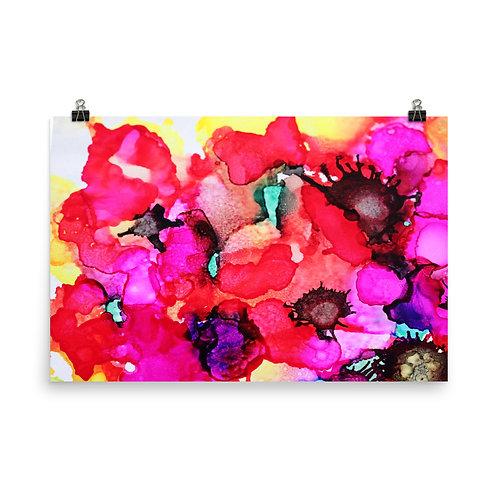Poppy Garden II - Photo Paper Poster