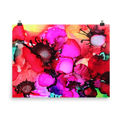 Poppy Garden - Photo Paper Poster