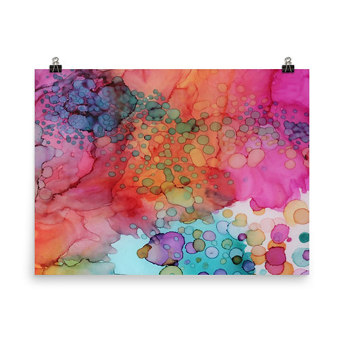 Bubbling Abstraction - photo paper poster