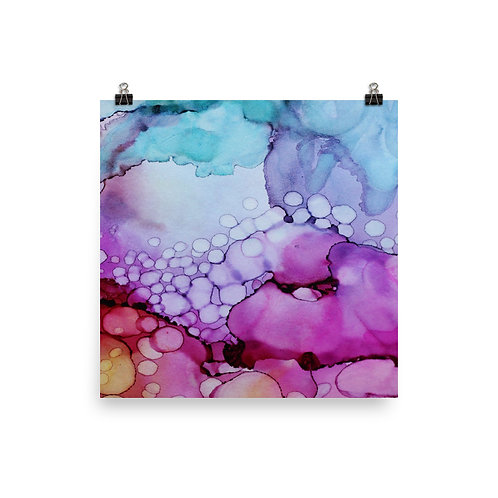 Bubbling Watercolor - Photo Paper Poster