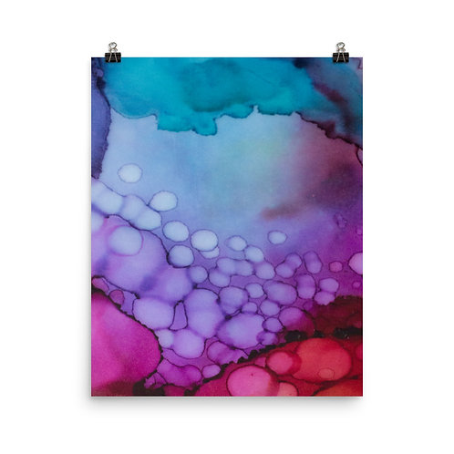 Bubbling Abstraction II - Photo Paper Poster