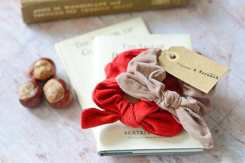 Cotton Cord Little Girl Scrunchies (pair)
