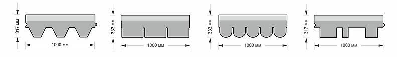 форма  битумной черепиц шинглас