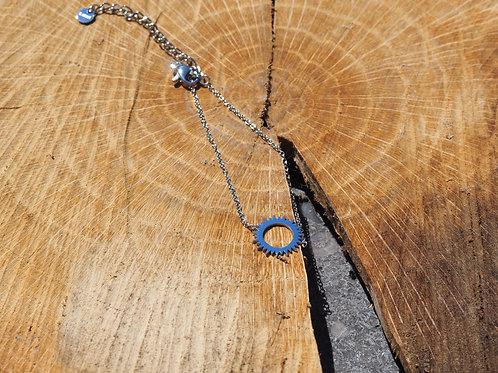 Bracelet soleil argenté