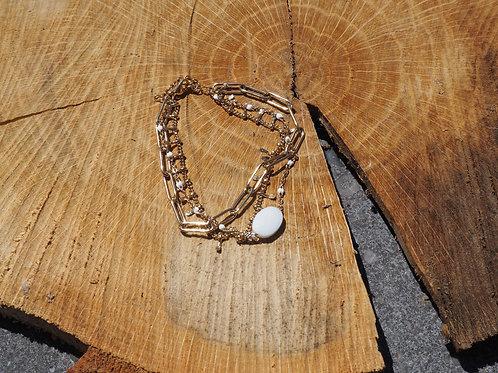 Bracelet perle blanche