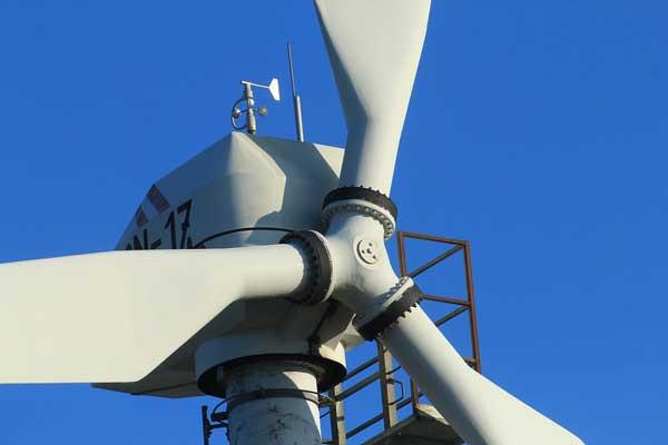 wind turbine nacelle closeup