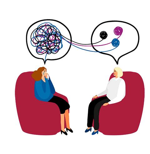 Paartherapie Berlin Birgit Fehst-Zeichnung Therapiegespräch