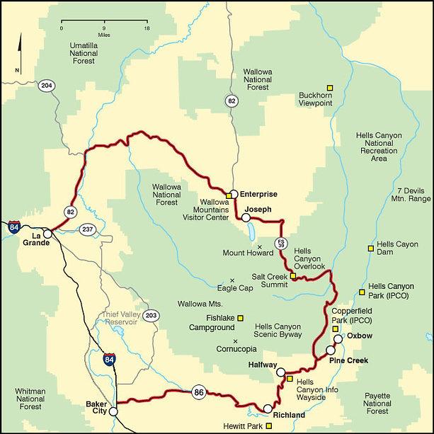 Halfway Oregon Map.Hellscanyonchamber Area Map Seasonal Info