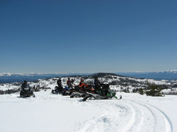 Russel Mountain Lookout with Idaho in Distance