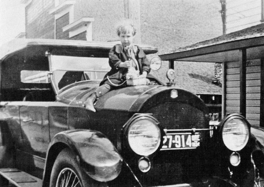 Halfway Easter 1924 Child on Car Hood.jpg