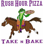 Rush Hour Pizza Logo