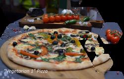 vegetarian 1 pizza