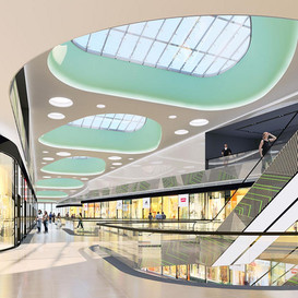 SHOPPING MALL AND ENTERTAINMENT CENTER INTERIORS