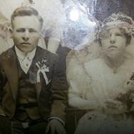 1917 Wedding Portrait of Immigrant Couple