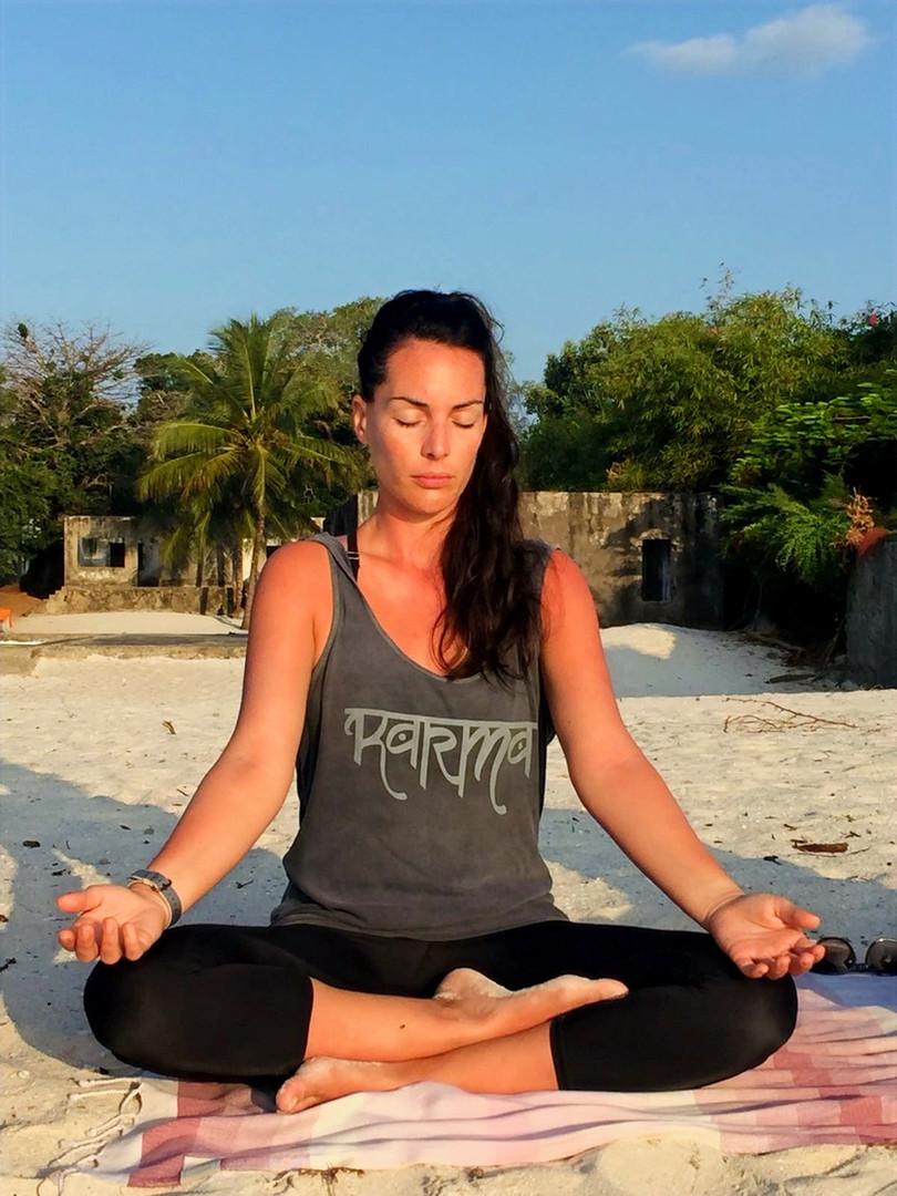 meditating with activ wellness