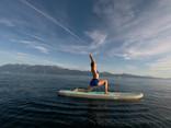 yoga on a paddle baord