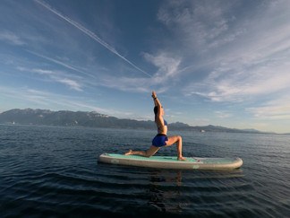paddle baording and yoga