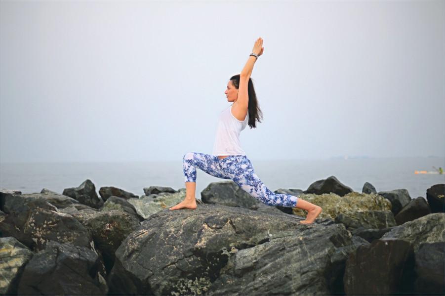 yoga pose outdoors