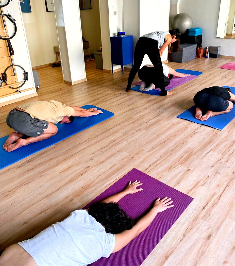 yoga adjustments class