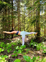 hatha yoga pose in the park