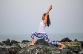 outdoor hatha yoga in Dubai