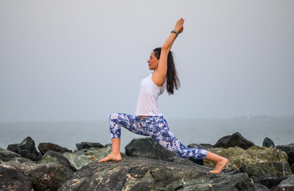 outdoor hatha yoga pose