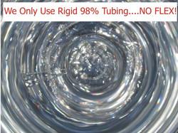 We only use ridgid tubing. NO FLEX!
