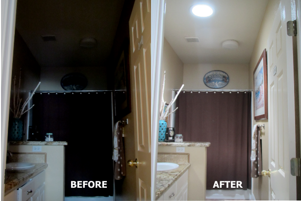 Before & After in your bathroom.
